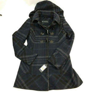 Guess plaid wool peacoat CH661542
